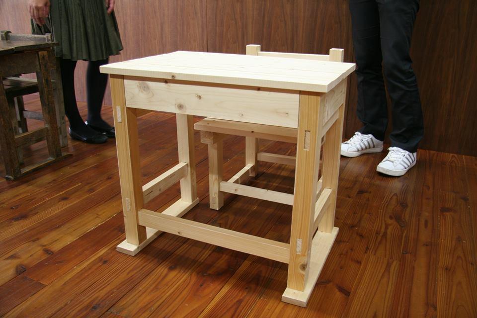 椅子と机の試作